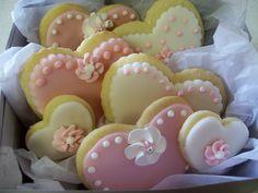 Beautiful heart cookies. #Valentine #Cookie