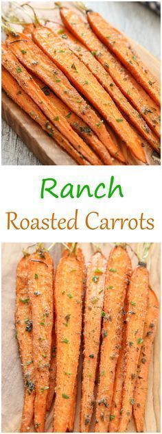 Ranch Roasted Carrots. An easy vegetable side dish made with a few basic pantry he
