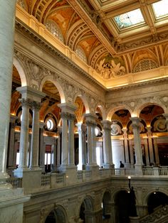 The Library of Congress/Washington DC/First began with the enormous collection of books from the library of Thomas Jefferson.