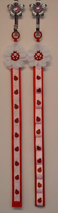 Matching Ladybug Headband Holder & Hair Bow by FunnyGirlDesigns