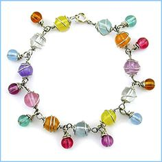 Colorful Wire Wrapped Bracelet tutorial