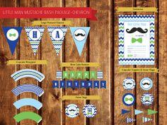 Little Man Mustache Bash Birthday Party by StealMyHeartDesign, $25.00