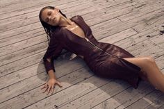Fashion Magazine 'Skin Test' Editorial - Situated in a concrete jungle, the Fashion Magazine 'Skin Test' editorial boasts edgy leather separates.   In this spread, a decidedly ...