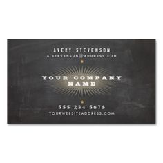 Cool Retro Rustic Black Vintage Typography Business Card Templates