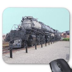 Union Pacific Railroad Alco Big Boy Steam Engine Mouse Pads-$12.95 by zazzle.com #stanrail Create a custom mousepad for home and office! Decorate your desk with your favorite image or choose from thousands of designs that look great and protect your mouse from scratches and debris.- #BigBoy #alco #Locomotive  #stanrails_store