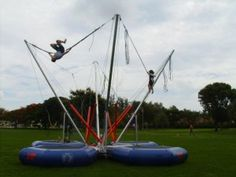 Bungee Jumper Trampoline - Make kids feel like they're spelunking with a bungee jumper!