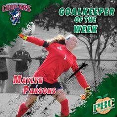 Women's Soccer Goalkeeper of the Week: Maylyn Parsons, Columbus State