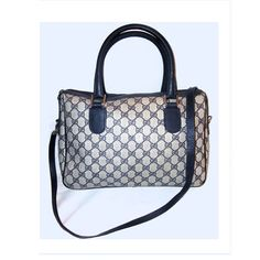 w/ Long STRAP GUCCI Signature Speedy Bag LARGE Vintage by getloved