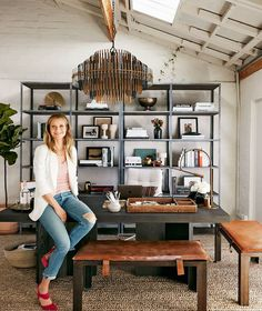 Here, a tour of our Santa Monica headquarters and Gwyneth shows off her office digs.