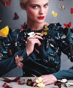Viktoriya Sasonkina by Victor Demarchelier Harper´s Bazaar US September 2013. #editorial