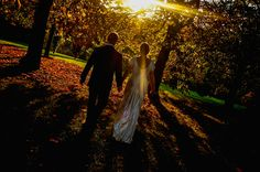 Autumn can be a great time for a wedding with dramatic low sun sets highlighting the golden colours