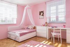 """Pokoj dcery je typicky """"holčičí"""". Girls Bedroom, Baby Kids, Toddler Bed, Furniture, Home Decor, Child Bed, Decoration Home, Room Decor, Girl Bedrooms"""
