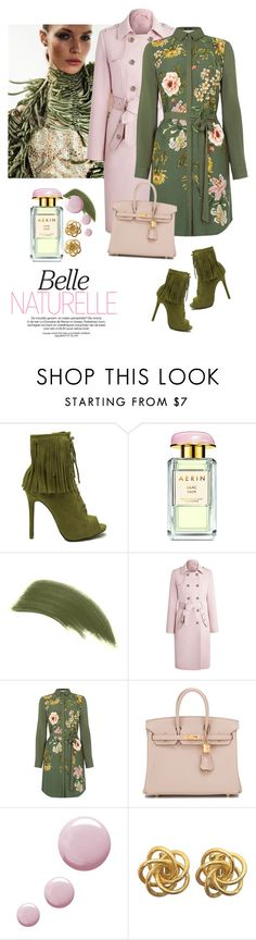 """""""Opium Visc print shirt dress"""" by lera-chyzh ❤ liked on Polyvore featuring AERIN, By Terry, Oasis, Hermès and Topshop"""