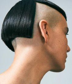 No photo description available. Modern Hairstyles, Bob Hairstyles, Half Shaved Hair, Shaved Head, Shaved Undercut, Buzzed Hair, Shaved Side Hairstyles, Skin Head, Hair Issues