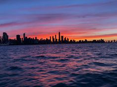 Sunset over Chicago : pics Sunset Pictures, Sunset Pics, Amazing Architecture, New York Skyline, Sunrise, Chicago, Celestial, City, Places