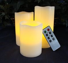 LED Lytes Battery Operated Flameless Unscented Ivory Wax & Amber Yellow Flame Candles with Remote, 3 Pack LED Lytes http://www.amazon.com/dp/B017WOHF2W/ref=cm_sw_r_pi_dp_b8iaxb14CZXKR