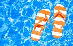 flip flops in water