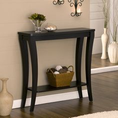 Narrow Hallway Decor Solution Cut A Table In Half And