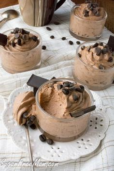 low carb sugar-free mocha mousse made with just 4 ingredients!