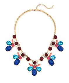 Opulent Orchid Statement Necklace - Multicolored $17