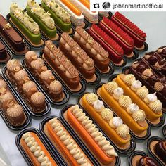 The amazing creations made by with Fashion Eclair mould made in collaboration with ! Small Desserts, Gourmet Desserts, Fancy Desserts, Delicious Desserts, Yummy Food, Plated Desserts, Choux Pastry, Pastry Cake, Patisserie Fine