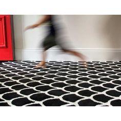 Hot Springs Rug - Xavier  Me - red door, black and white rug