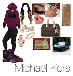 """""""PINK❤️☺️"""" by jazzy0725 ❤ liked on Polyvore featuring Victoria's Secret, FOSSIL, Charlotte Tilbury, Forever 21, Michael Kors and Case-Mate"""
