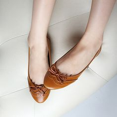 Womens Shoes Ballet Flats Basic Light Low Heels Oxford Shoes Style Classic 353JS | eBay