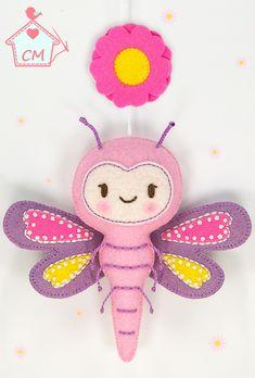 PDF Felt Sewing Pattern by Casa Magubako #dragonfly, #bug, #libelula, #felt, #pattern, #stitching, #sewing, #fieltro, #feltro, #ornament, #embellishment, #casamagubako