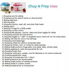Tupperware Chop N Prep Uses www.beckyfrench71.my.tupperware.com