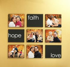 Faith Hope Love, Canvas wall art