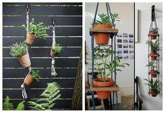 Un DIY para maceteros colgantes. Una idea sencilla que nos gusta tanto para el exterior como para el interior de la vivienda.