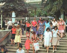Кисловодский железнодорожный вокзал, 1981 год. Фото Ю. Жванко