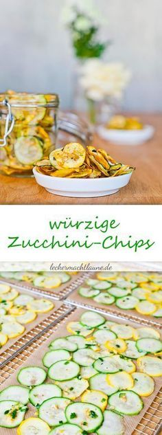 Zucchini chips: a healthy alternative to potato chips that not only keep up, but taste even better. :] potato al horno asadas fritas recetas diet diet plan diet recipes recipes Raw Food Recipes, Veggie Recipes, Diet Recipes, Healthy Recipes, High Carb Foods, Low Carb Diet, Zucchini Chips Recipe, Zuchinni Chips, Carb Cycling Diet
