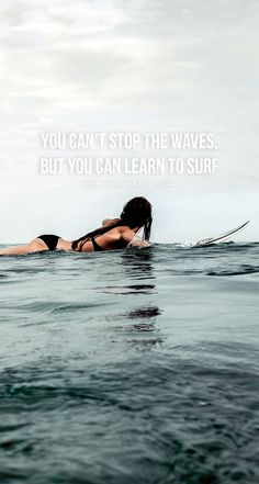Quotes for Motivation and Inspiration QUOTATION – Image : As the quote says – Description You can't stop the waves, but you can learn to surf Download this FREE wallpaper @ www.V3Apparel.com/MadeToMotivate and many more for motivation on the go! / F https://www.musclesaurus.com