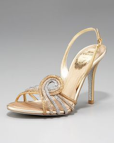 Crystal-Swirl Sandal by Rene Caovilla at Neiman Marcus.