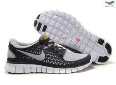 Nike Free Run Mens 395912-016 Grey Black White