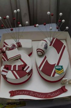 50th Birthday Manly Sea Eagles Cake