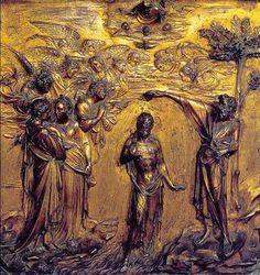 """""""El bautismo de Cristo"""" Pila Bautismal, Baptisterio de Siena. Relieve en bronce elaborado por Lorenzo Guiberti en 1427."""