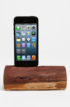 Technology, meet nature. Redwood iPhone 5 docking station.