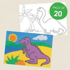 Dinosaurs Sand Art Sheets - CleverPatch