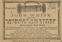 Advert for John White, chimney sweep Chimney Sweep, British Library, The Neighbourhood, Printer, School, The Neighborhood, Printers