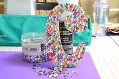 Bedazzled Wood Letter ~ fun for the girls!