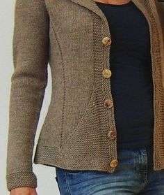Ravelry: Triangle Cardigan Jacket by von Hinterm Stein. Pattern available to purchase.