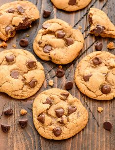 These Coconut Oil Chocolate Chip Cookies are so THICK and CHEWY. Move over butter! These cookies are just as good, and they are healthy too!