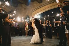 Wedding Exit with Sparklers, Fireworks, Idea, Bride and Groom
