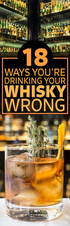 This Is How You Should Actually Be Drinking Whisky (liquor drinks alcohol) Whiskey Girl, Cigars And Whiskey, Scotch Whiskey, Irish Whiskey, Bourbon Liquor, Bar Drinks, Alcoholic Drinks, Beverages, Drinks Alcohol