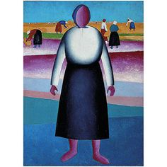 Malevich: Harvesting. Study for a Painting (custom print)