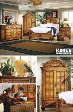 Palm Court King Bedroom With Door Dresser