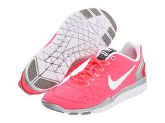 Nike Free TR Fit 2 Hot Punch/Metallic Silver/Siren Red/White - 6pm.com